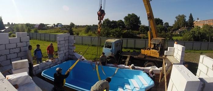 Установка бассейна, монтаж чаши, шеф-монтаж от компании EURO-POOLS!